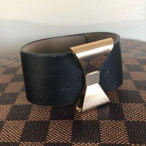 🌺 4/$20 Gold Bow Cuff Bracelet Faux Leather Vegan